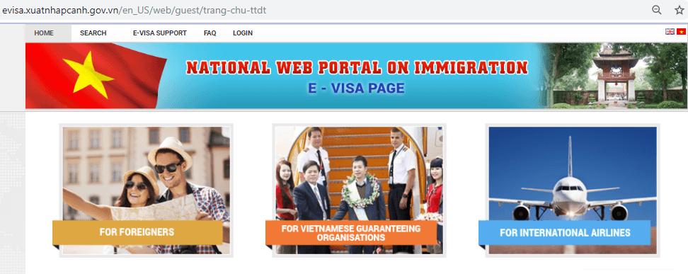 Visa pour le vietanm - Le site officiel de l'immigration du Vietnam