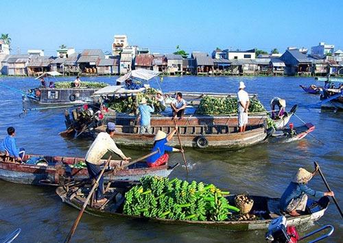Visite du Sud du Vietnam : Marché de Cai Rang