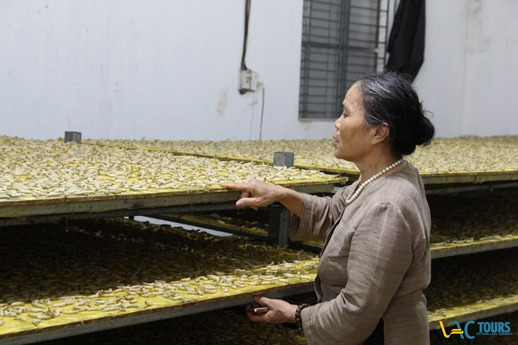 village de la soie où on dévouvrira un artisanat traditionnel du Vietnam, achetera de la soie comme des souvenirs vietnamiens