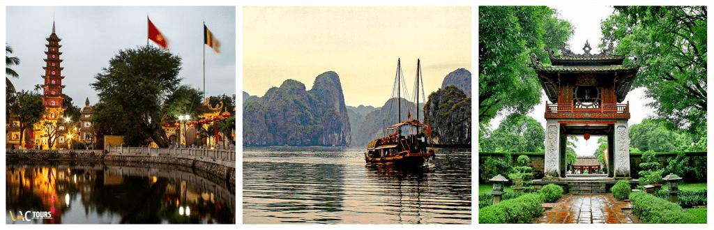 Séjour au Vietnam, à Hanoi et croisière sur la baie d'Halong.